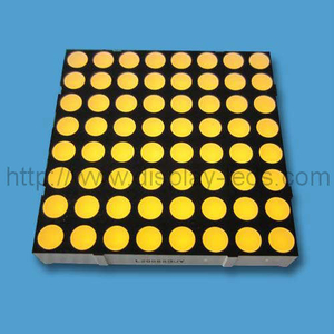 2 Zoll 8x8 LED Dot Matrix in Gelb