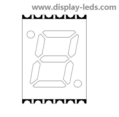 0,28 Zoll einstelliges 7-Segment-SMD-Display